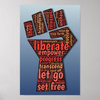、強さ権限を与えて下さい、ポスターを解放して下さい、動力を与えて下さい ポスター