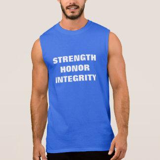 強さ。 名誉。 完全性 袖なしシャツ