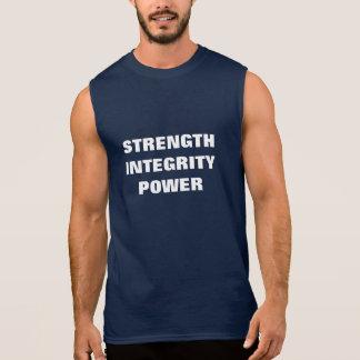 強さ、完全性、力 袖なしシャツ