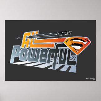 強力なスーパーマンすべてに プリント