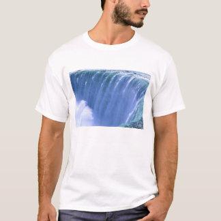 強力なナイアガラ・フォールズの端に、ニューヨーク Tシャツ