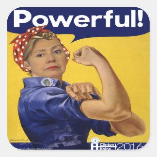 強力なヒラリー・クリントン! スクエアシール