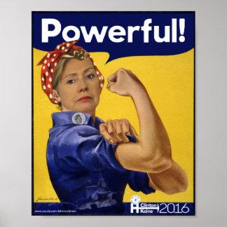 強力なヒラリー・クリントン! ポスター