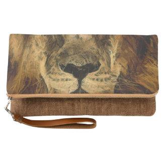 強力なライオンの芸術 クラッチバッグ