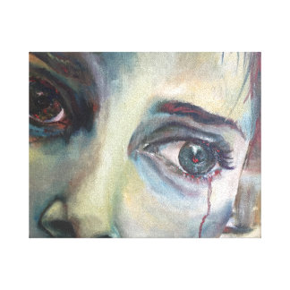 強力な感情の女性の叫びの絵画を解放して下さい キャンバスプリント