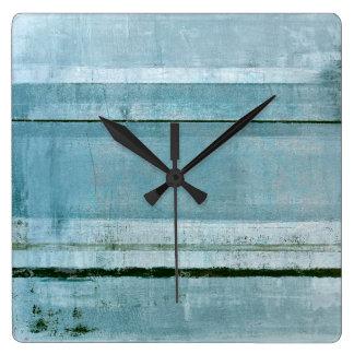 「強固な」青い抽象美術 クロック