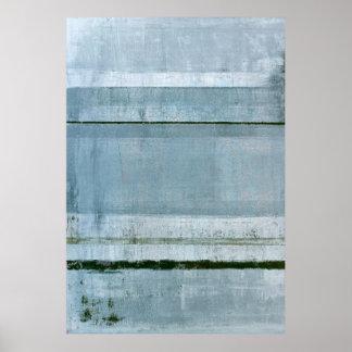 「強固な」青い抽象美術 ポスター