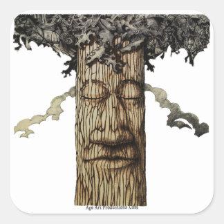 強大な木の上表紙 スクエアシール