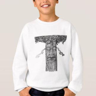 強大な木カバーB&W スウェットシャツ