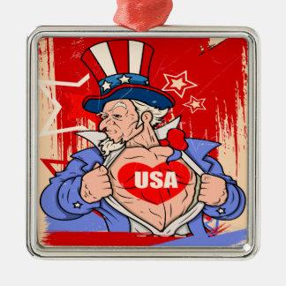 強大な米国市民愛米国の入れ墨 メタルオーナメント