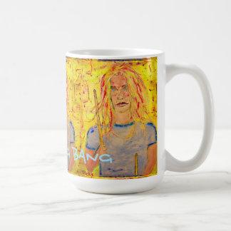 強打の強打の強打のドラマーの女の子 コーヒーマグカップ