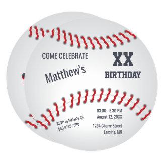 強打者の野球によって家庭走られる誕生会 13.3 スクエアインビテーションカード
