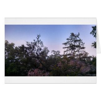 強盗の洞窟の州立公園の日没 カード