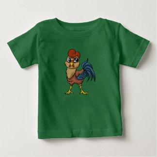 弾力性のあるオンドリ! ベビーTシャツ