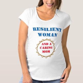 弾力性のある女性のお母さんの罰金のジャージーの長いTシャツ マタニティTシャツ