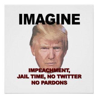 弾劾、刑務所、Twitter、許しを想像しないで下さい ポスター