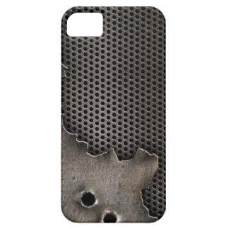 弾痕の背景が付いている金属 iPhone SE/5/5s ケース