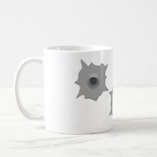 弾痕メッセージのマグ コーヒーマグカップ