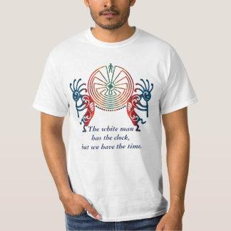 当惑のココペリ/人 + あなたの文字 Tシャツ