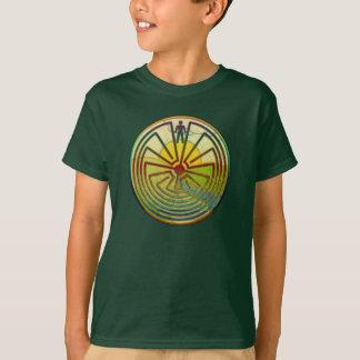 当惑の景色の人 + あなたの背景 Tシャツ