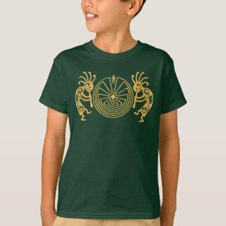 当惑の金ゴールドのココペリ/人 + あなたのアイディア Tシャツ
