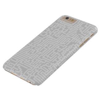 当惑パターンiPhoneの場合-灰色の色合い Barely There iPhone 6 Plus ケース