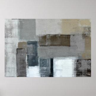 「当惑」の中立抽象美術ポスタープリント ポスター