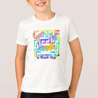 当惑ing! かわいい漫画の恐竜の子供のTシャツ Tシャツ