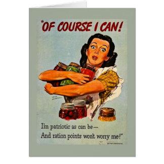 当然私はできます! ヴィンテージの第二次世界大戦 カード