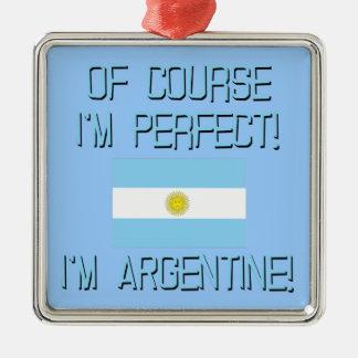 当然私は完全、私ですアルゼンチン人です! メタルオーナメント