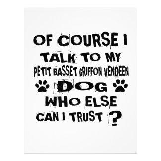 当然私は私の小さいバセット犬GRIFFONの買主に話します レターヘッド