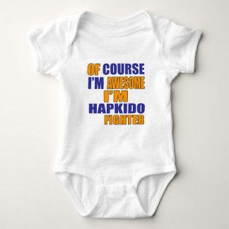 当然私はHapkidoの戦闘機です ベビーボディスーツ