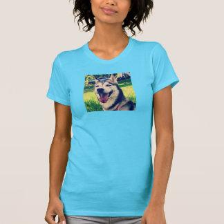 彗星およびgemmaのハスキーのティー tシャツ