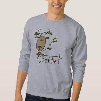 彗星のトナカイのクリスマスのTシャツおよびギフト スウェットシャツ