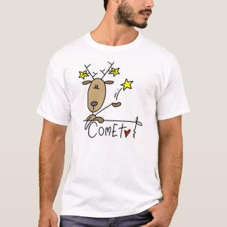 彗星のトナカイのクリスマスのTシャツおよびギフト Tシャツ