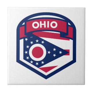形づくオハイオ州の州の旗の頂上 タイル