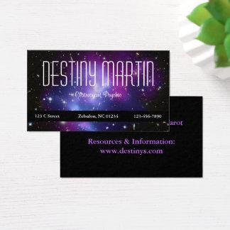 形而上学的な紫色の宇宙の写真 名刺