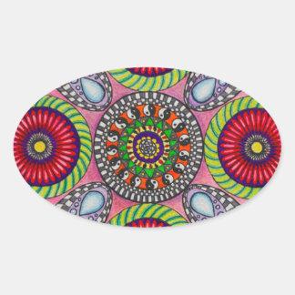 彩度のsappHoによる催眠 楕円形シール
