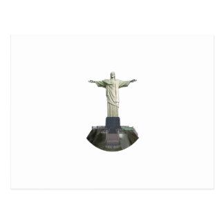 彫像: キリスト救い主: 3Dモデル: ポストカード