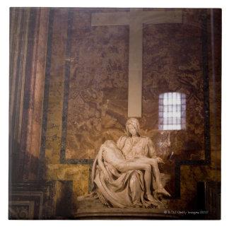 彫像、バチカン、ローマ、イタリア タイル