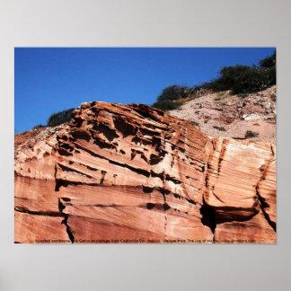 彫刻が施された砂岩、Los Gatosの投錨 ポスター