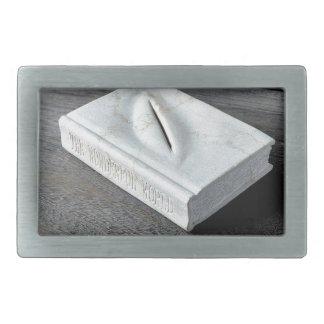彫刻のデザイン 長方形ベルトバックル