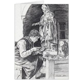 彫刻家の男の子 カード