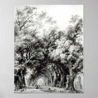 影がある細道、c.1773-74 ポスター