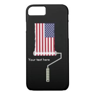 影が付いているペンキローラーは米国すべて側面買物をします iPhone 8/7ケース