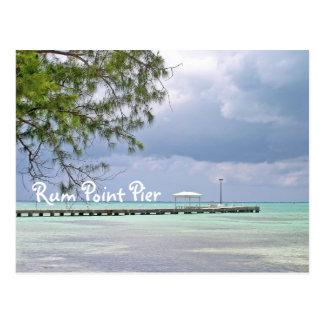 影が付いているラム酒ポイントPIER/DARK SKY/GREEN水 ポストカード