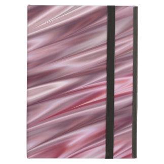 影で覆われたピンクおよび灰色のサテンのスタイルは縞で飾ります iPad AIRケース