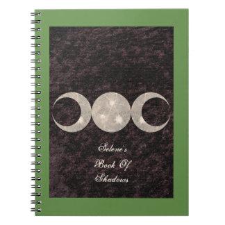 影のウシGrimoireのきちんとした月のデザインの本 ノートブック