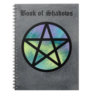 影のノート2の多彩な星形五角形の本 ノートブック