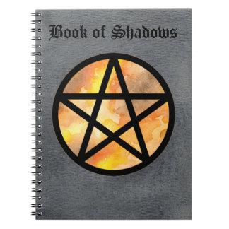 影のノート2の秋の星形五角形の本 ノートブック